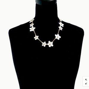 🔥NEW J. CREW FLOATING FLOWERS STATEMENT NECKLACE